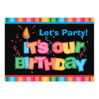 It's Our Birthday Letters Card