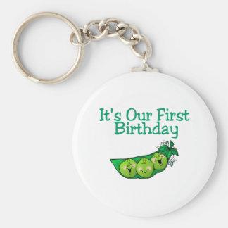 It's Our First Birthday (2) Basic Round Button Keychain