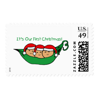 It's Our First Christmas - Triplets Postage