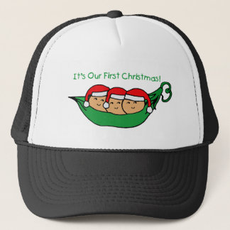 It's Our First Christmas - Triplets Trucker Hat