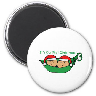It's Our First Christmas Twin Pod  Magnet