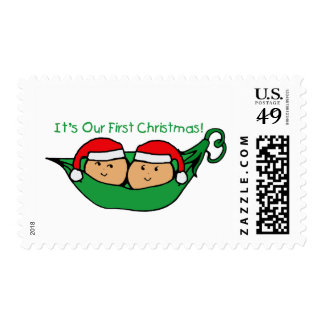 It's Our First Christmas Twin Pod  Postage