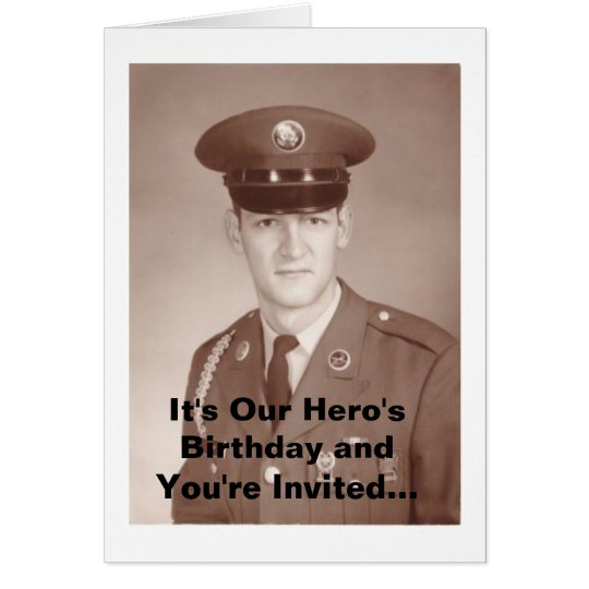 It's Our Hero's Birthday and You're In... Card