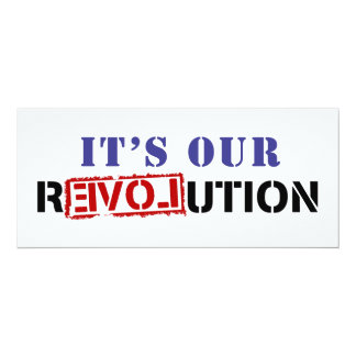 It's Our rEVOLution Card