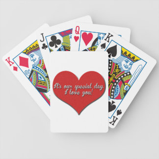 It's Our Special Day - I Love You Bicycle Playing Cards