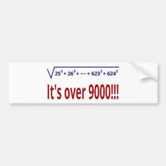 It's over 9000! bumper sticker