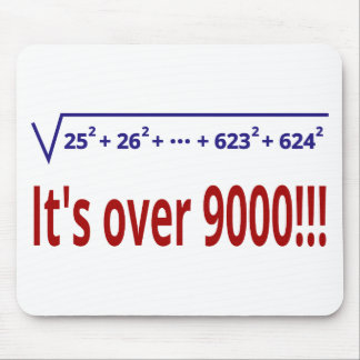 It's over 9000! mouse pad