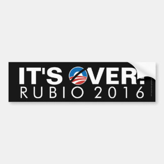 It's Over, Anti-Obama Rubio 2016 Bumper Sticker