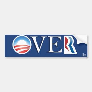 It's OVER, Romney! Pres Obama wins again. Car Bumper Sticker