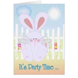 It's Party Time ... Cute as a Bun Card