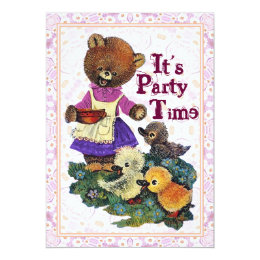Its Party time for Teddy Bears Invite