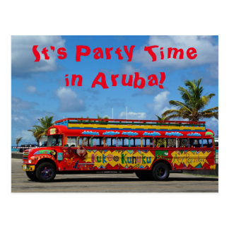 It's Party Time in Aruba Postcard