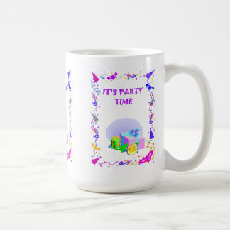 It's party time, parcels coffee mug