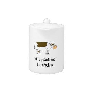 It's pasture birthday funny cow teapot
