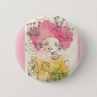It's Peach Time! Pin in Pink