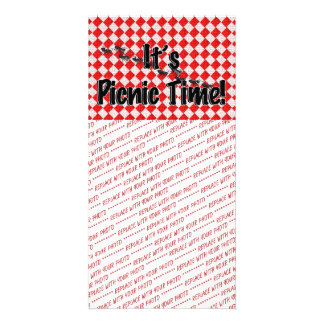 It's Picnic Time! Red Checkered Table Cloth w/Ants Card