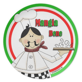 It's Pizza Time! Mangia Bene Party Plate