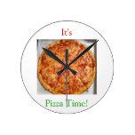 It's Pizza Time! Round Clocks