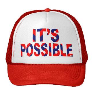 It's Possible Patriotic Chevron Trucker Hat