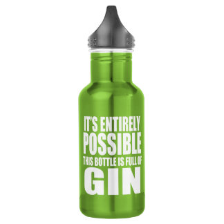 It's Possible This is Gin Stainless Steel Water Bottle