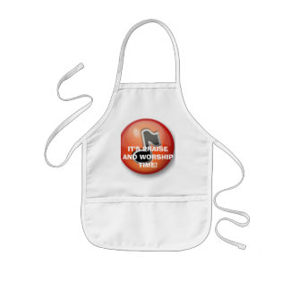 IT'S PRAISE AND WORSHIP TIME! KIDS' APRON