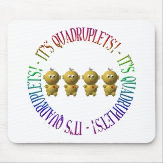 It's quadruplets! mouse pad