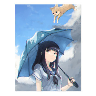 It's Raining Cats Postcard