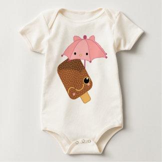 it's raining chocolate ice cream baby bodysuit