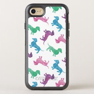 It's Raining Dachshund Cute Pastel Colored OtterBox Symmetry iPhone 7 Case