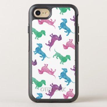 antiqueimages It's Raining Dachshund Cute Pastel Colored OtterBox Symmetry iPhone 7 Case