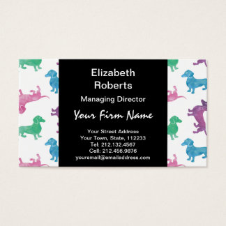It's Raining Dachshunds Business Card