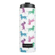 It's Raining Dachshunds Pastel Colored Thermal Tumbler