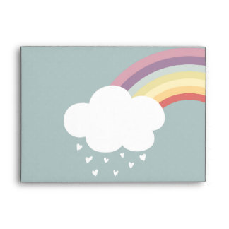 It's raining hearts (there's a rainbow, too) envelope