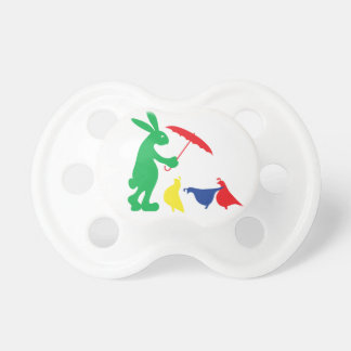 It's Raining, It's Pouring! Bunny and Partridges Pacifier