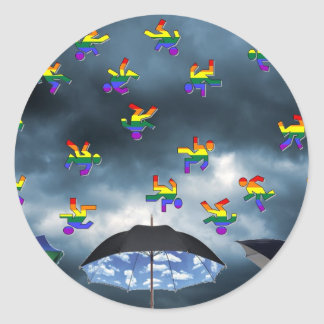 It's Raining Men! Classic Round Sticker