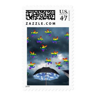 It's Raining Men! Stamp
