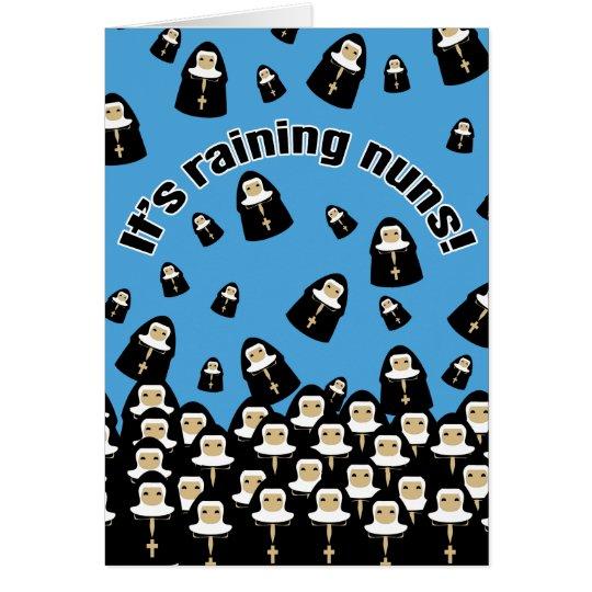 It's Raining Nuns Card