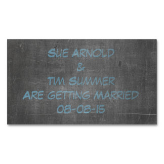 Its Real Chalk - Engagement Announcement Magnetic Business Card