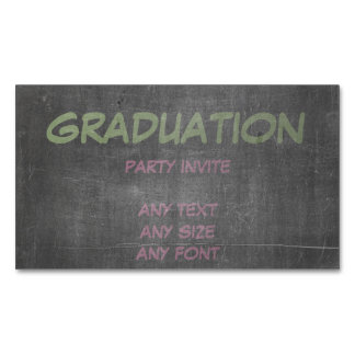 Its Real Chalk - Graduation Party Invite Magnetic Business Card