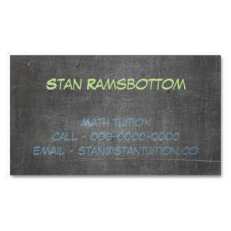 Its Real Chalk - Math Tutor Business Card Magnet