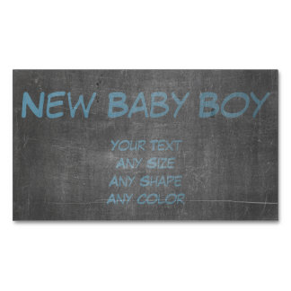 Its Real Chalk - New Baby Boy xx Magnetic Business Card