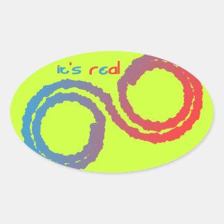 it's real oval sticker