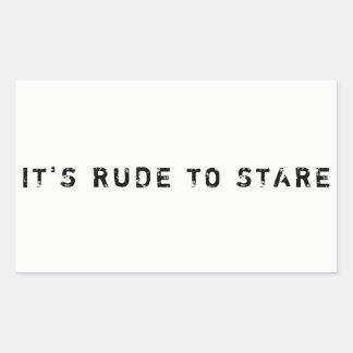 IT'S RUDE TO STARE STICKER (MATTE)