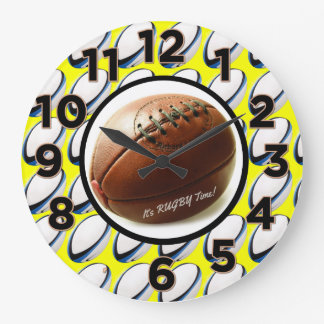 It's Rugby Time - Wall Clock