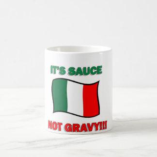 It's sauce not gravy funny Italian Italy pizza tom Coffee Mug