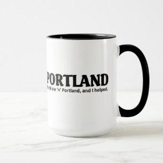 It's shaken in portland mug