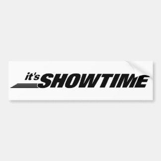 It's Showtime Car Bumper Sticker
