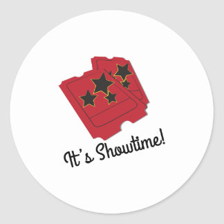 Its Showtime Classic Round Sticker