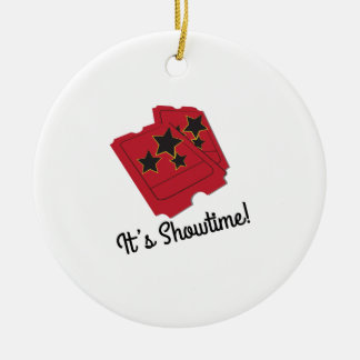 Its Showtime Double-Sided Ceramic Round Christmas Ornament