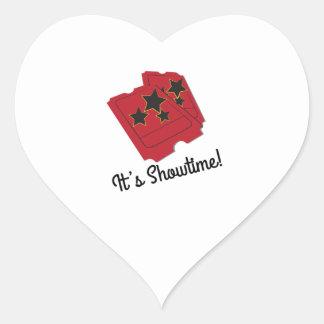Its Showtime Heart Sticker